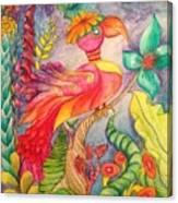Crazy Bird 1 Canvas Print