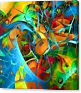 Crazy Blue 3566 Canvas Print