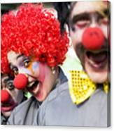 Crazy Circus Clowns Canvas Print