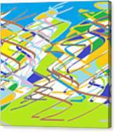 Crazy Colors Canvas Print