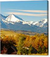 Crazy Mountain Homestead Canvas Print