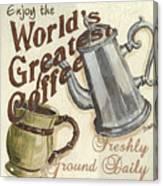 Cream Coffee 1 Canvas Print