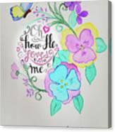 Creation By Virgin Canvas Print