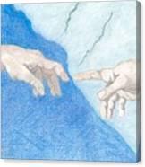 The Creation Hands Sistine Chapel Michelangelo Canvas Print