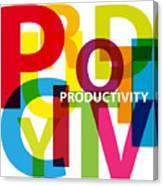 Creative Title - Productivity Canvas Print