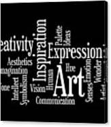 Creativity Art Inspiration Canvas Print