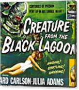 Creature From The Black Lagoon, Upper Canvas Print