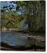 Creek To Lake Canvas Print