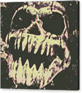 Creepy Face From Nightmares Past Canvas Print