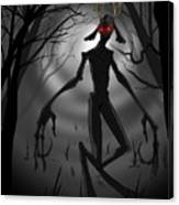 Creepy Nightmare Waiting In The Dark Forest Canvas Print