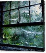 Creepy Old Window Canvas Print