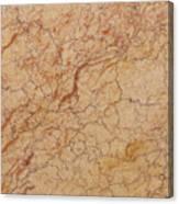 Crema Valencia Granite Canvas Print