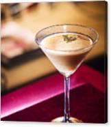 Creme Caramel Martini Cocktail In Bar Canvas Print