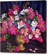Crepe Myrtle And Roses  Canvas Print