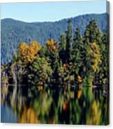 Crescent Lake Fall Colors Canvas Print