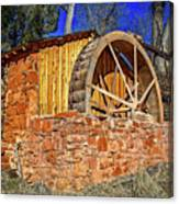Crescent Moon Ranch Water Wheel Canvas Print