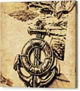 Crest Of Oceanic Adventure Canvas Print