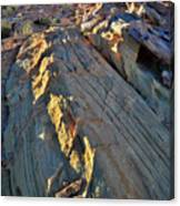 Crest Of Sandstone Wave At Sunset In Valley Of Fire Canvas Print