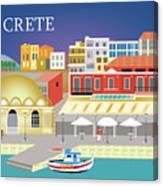 Crete Greece Horizontal Scene Canvas Print