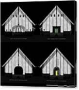 Crew Boathouse Elevations Canvas Print