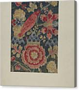 Crewel Embroidered Panel Canvas Print