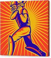 Cricket Sports Batsman Batting Canvas Print