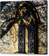 Cricket St Thomas Church Window Canvas Print