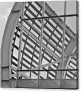 Cricket Stadium Architecture Black And White Canvas Print