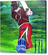 Cricket Warrior Canvas Print