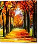 Crimson Alley Canvas Print