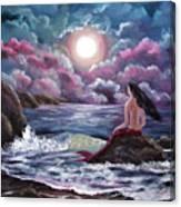 Crimson Mermaid Canvas Print