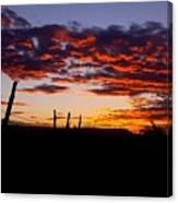 Crimson Sunrise  Canvas Print