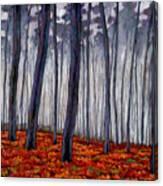 Crimson Walk Canvas Print