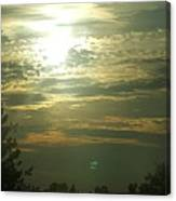 Crinkled Forehead Lines In The Sky Canvas Print