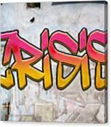 Crisis As Graffiti On A Wall  Canvas Print