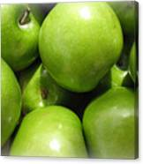 Crispy Green Apples From The Farmers Market Canvas Print