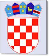 Croatia Coat Of Arms Canvas Print