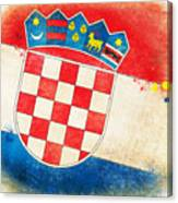 Croatia Flag Canvas Print