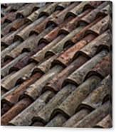 Croatian Roof Tiles Canvas Print