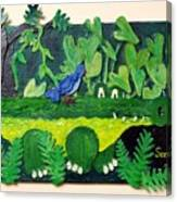 Crocodile Amble Canvas Print