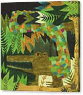Crocogator Canvas Print