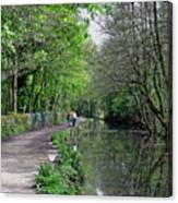 Cromford Canal - Tree Lined Walk Canvas Print
