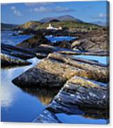 Cromwell Point Lighthouse Valentia Island Canvas Print