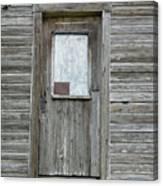 Crooked Door Canvas Print