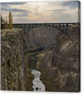 Crooked River Canvas Print