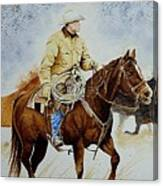 Cropped Ranch Rider Canvas Print