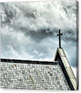 Cross Against An Angry Sky Canvas Print
