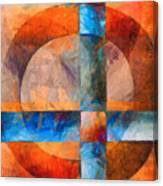 Cross And Circle Abstract Canvas Print