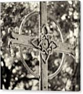 Cross At Dublin Pioneer Cemetery Canvas Print