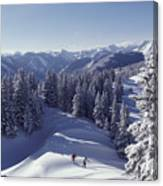 Cross-country Skiing In Aspen, Colorado Canvas Print